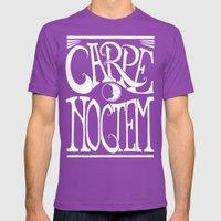 Carpe Noctem - Black Mens Fitted Tee Ultraviolet SMALL