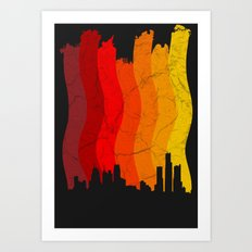 Liquefied City Art Print