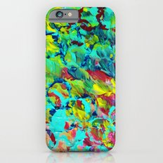 A LITTLE OF THIS - Bright Colorful Abstract Ocean Painting Circle Pattern Magenta Lime Fun Gift Slim Case iPhone 6s