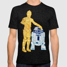 Glitter Droids Mens Fitted Tee Tri-Black SMALL