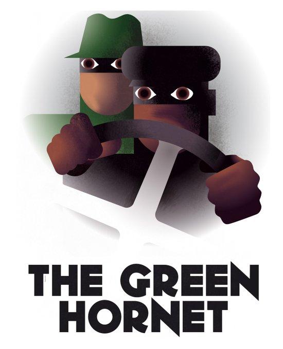 Cassandre Spirit - The green hornet Art Print