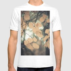 Hello Autumn Mens Fitted Tee White SMALL