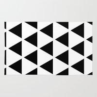 Sleyer Black on White Pattern Rug