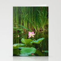Lotus Blossom Flower 18 Stationery Cards