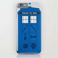 iPhone & iPod Case featuring The Tardis Got Some Ink by Ashley Hay