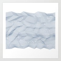 Facets - White And Dark … Art Print