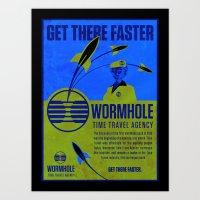 Time Travel Agency Art Print