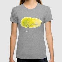 The Hummingbird Tree Womens Fitted Tee Tri-Grey SMALL