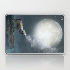 The Light of Starry Dreams (Wolf Moon) Laptop & iPad Skin