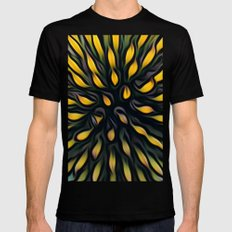 Echinacea Mens Fitted Tee Black SMALL