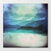 Tropical Island Multiple Exposure Canvas Print