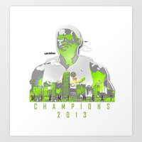 NBA CHAMPS MIAMI HEAT (LEBRON) Art Print