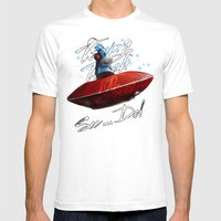 Kal The Monkey - See...D… Mens Fitted Tee White SMALL
