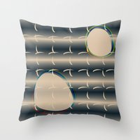 Asian Eggs Throw Pillow