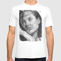 Angelina Jolie Tradition… Mens Fitted Tee White SMALL