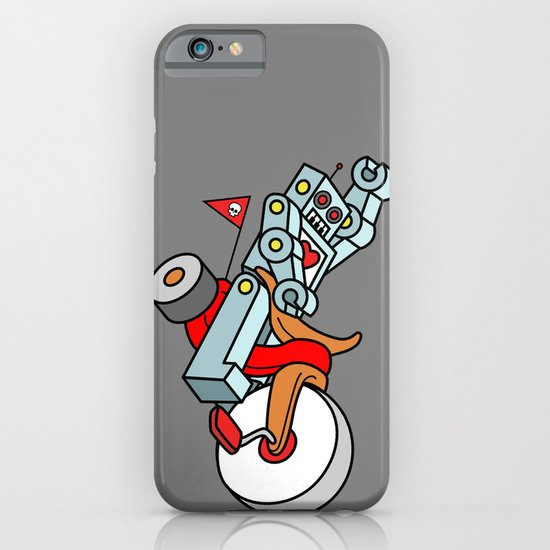 Hot Wheeling Robot Love iPhone & iPod Case
