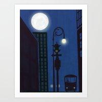 Last Stop On The Night Bus Art Print