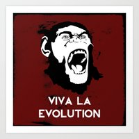 VIVA LA EVOLUTION Art Print