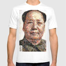 BEHIND THE FACE Mao | China Capitalism SMALL White Mens Fitted Tee