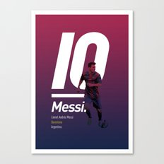Messi Barcelona Canvas Print