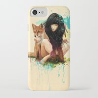 fox iPhone & iPod Cases featuring Fox Love by Ariana Perez