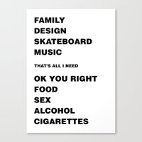 Ok You Right Canvas Print