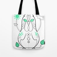 Morning Hen Tote Bag