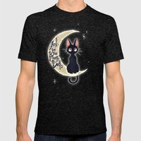 I Love You To The Moon & Back Mens Fitted Tee Tri-Black SMALL