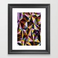 ∆ V Framed Art Print
