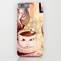 iPhone & iPod Case featuring purple sleepy breakfast by Ela Caglar
