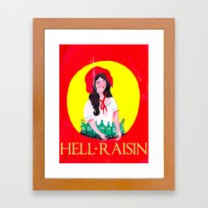 HELL RAISIN Framed Art Print