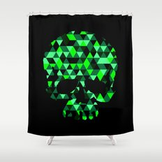 Triangle Camouflage Skull (BLACK) Shower Curtain