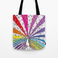 Rainbow-Peacock Tote Bag