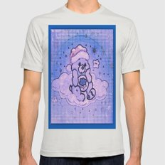 painted care bear  Mens Fitted Tee Silver SMALL