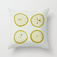 Lemon Square Throw Pillow