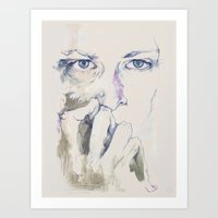 retrato Art Print