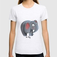 Elly The Shy Elephant Womens Fitted Tee Ash Grey SMALL
