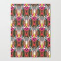 Abstract Pattern - Futuristic Canvas Print