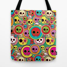 Button Skulls Tote Bag