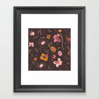 large flowers Framed Art Print