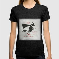 And I`m Not Afraid To Use Them Womens Fitted Tee Tri-Black SMALL