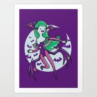 The Vampire Queen Art Print