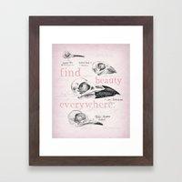 Bird Skulls Framed Art Print