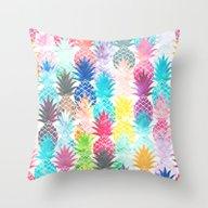 Hawaiian Pineapple Patte… Throw Pillow