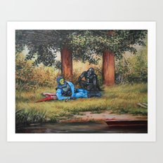 Chillin' With Bae Art Print