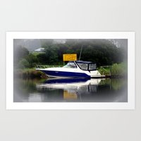 Reflections & Fog On The… Art Print