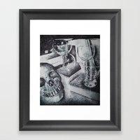 Skull And... Framed Art Print