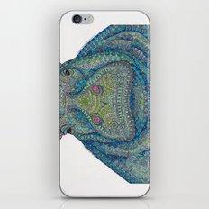 Hippie-Potamus (Blue) iPhone & iPod Skin