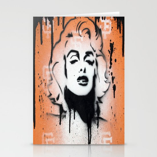 SF Giants x Marilyn Monroe by Adam Valentino  Stationery Card