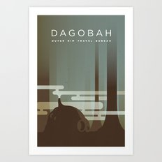 Outer Rim Travel Bureau: Dagobah Art Print